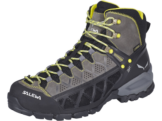 SALEWA Alp Flow Mid GTX Hiking Shoes Herren smoke/yellow